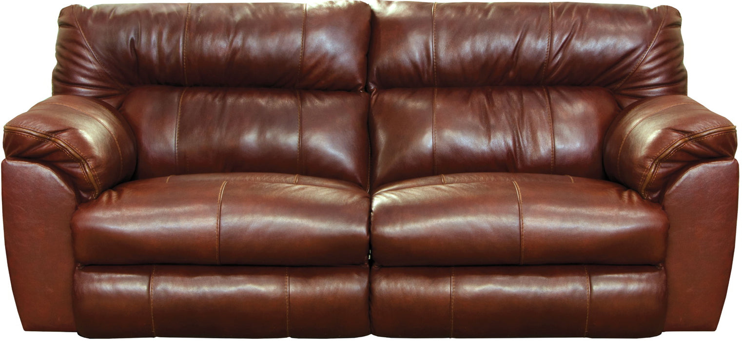 Catnapper Milan Power Lay Flat Reclining Sofa in Walnut 64341