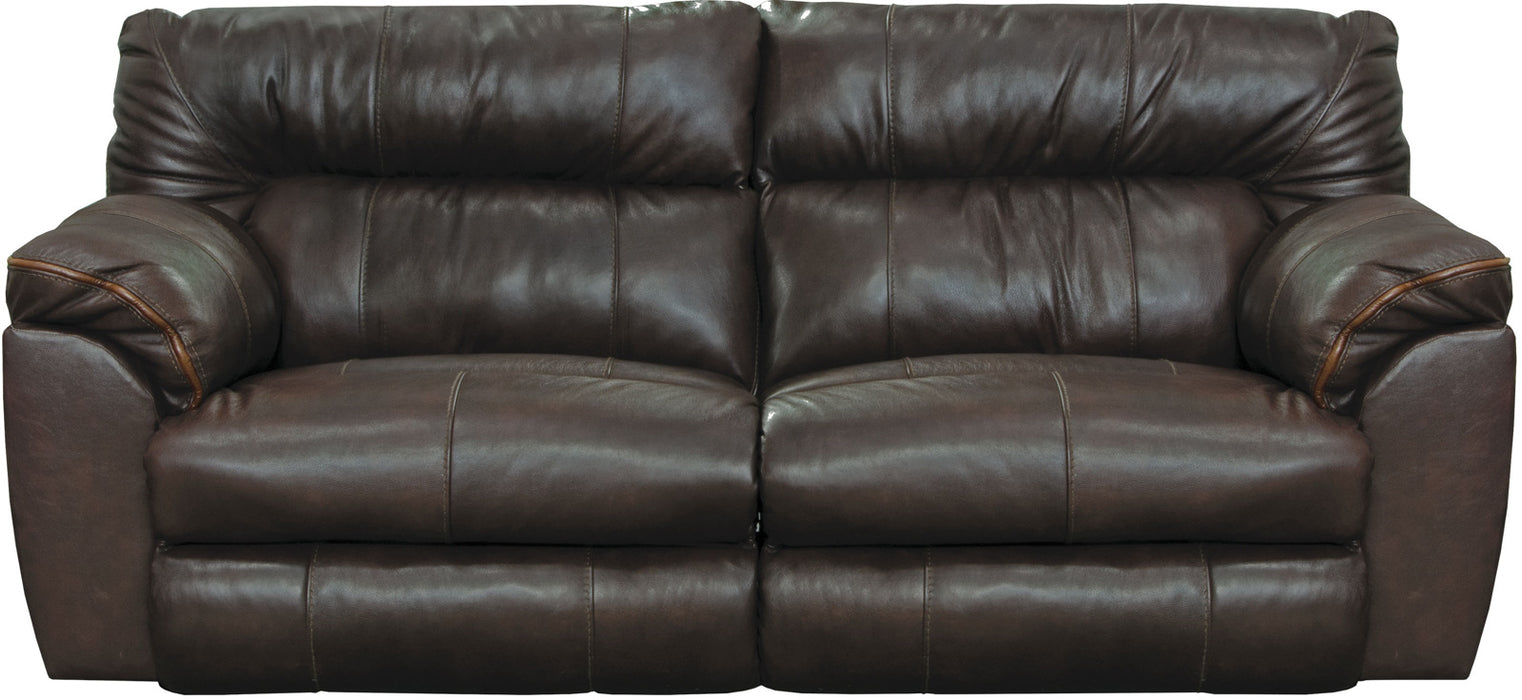 Catnapper Milan Power Lay Flat Reclining Sofa in Chocolate 64341