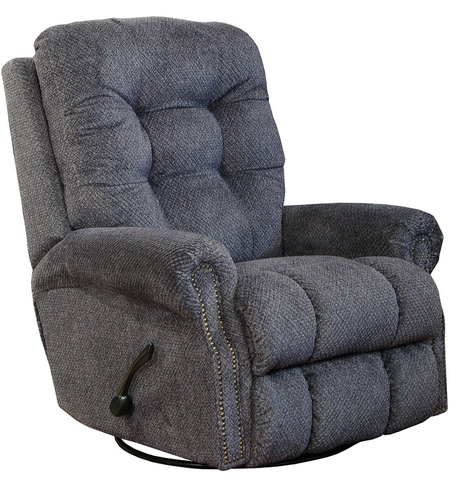 Catnapper Furniture Norwood Swivel Glider Recliner in Pewter 45645/1804-68