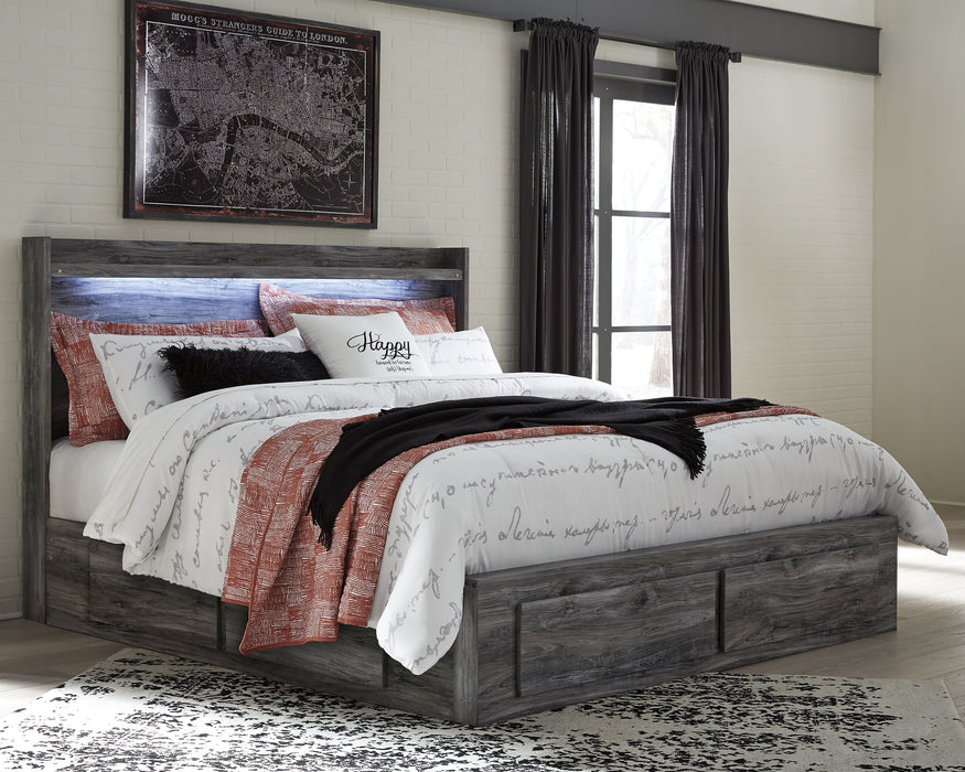 Baystorm Signature Design by Ashley Bed with 6 Storage Drawers
