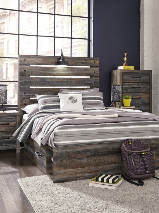 Drystan Signature Design by Ashley Bed with 4 Storage Drawers