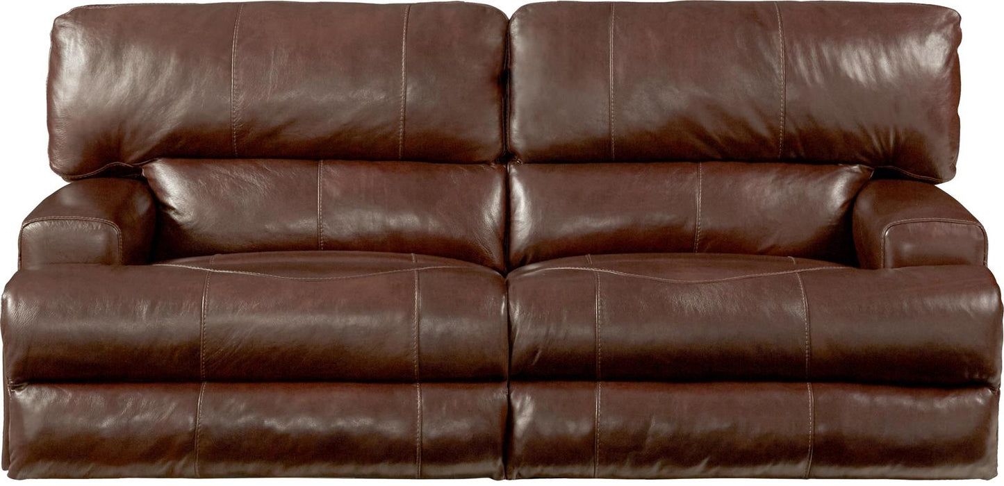 Catnapper Wembley Power Headrest with Lumbar Lay Flat Reclining Sofa in Walnut 764581