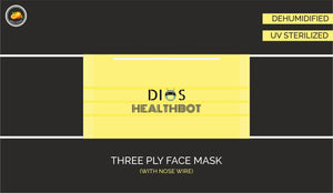 Three Ply Mask with Fresh Orange Fragrance (Pack of 50) - 100% Machine Made | UV Sterilised | Dehumidified | Flexible Nosewire