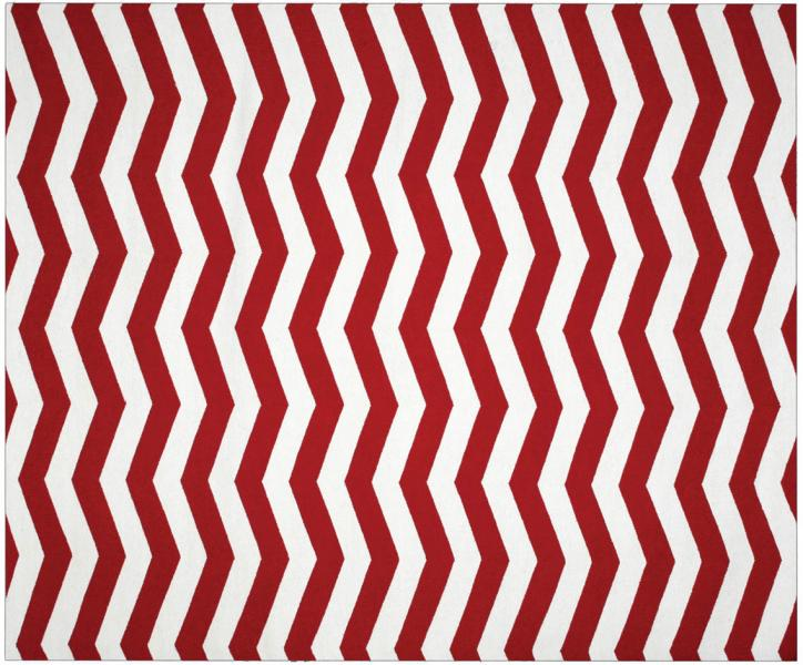 Dhurrie Chevron Red/Ivory