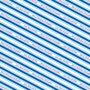 Candy Stripe Mini - Winter Blue