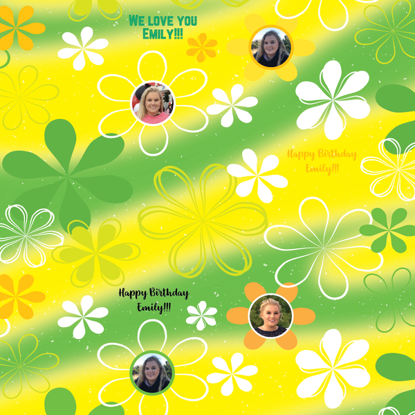 Flower Power - Green/Yellow