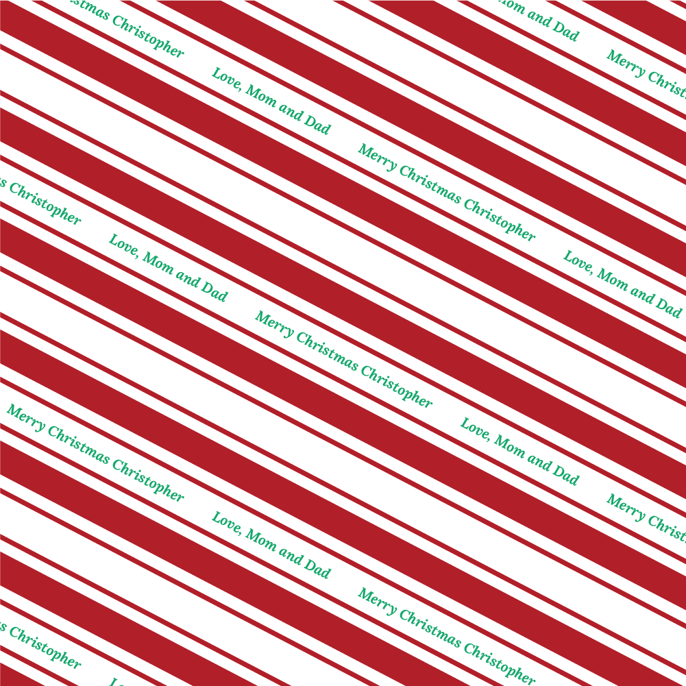 Candy Stripe - Red