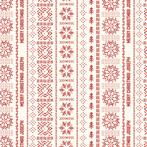 Snowflake Mudcloth - Red
