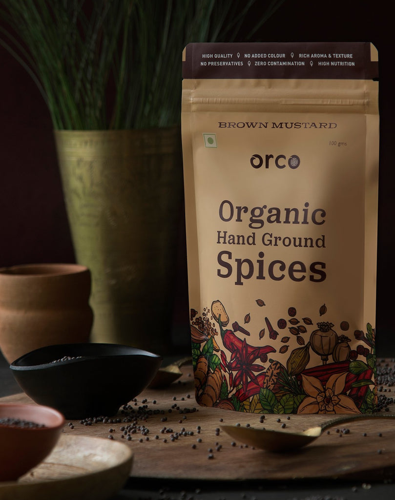 Organic Brown Mustard - orcospices