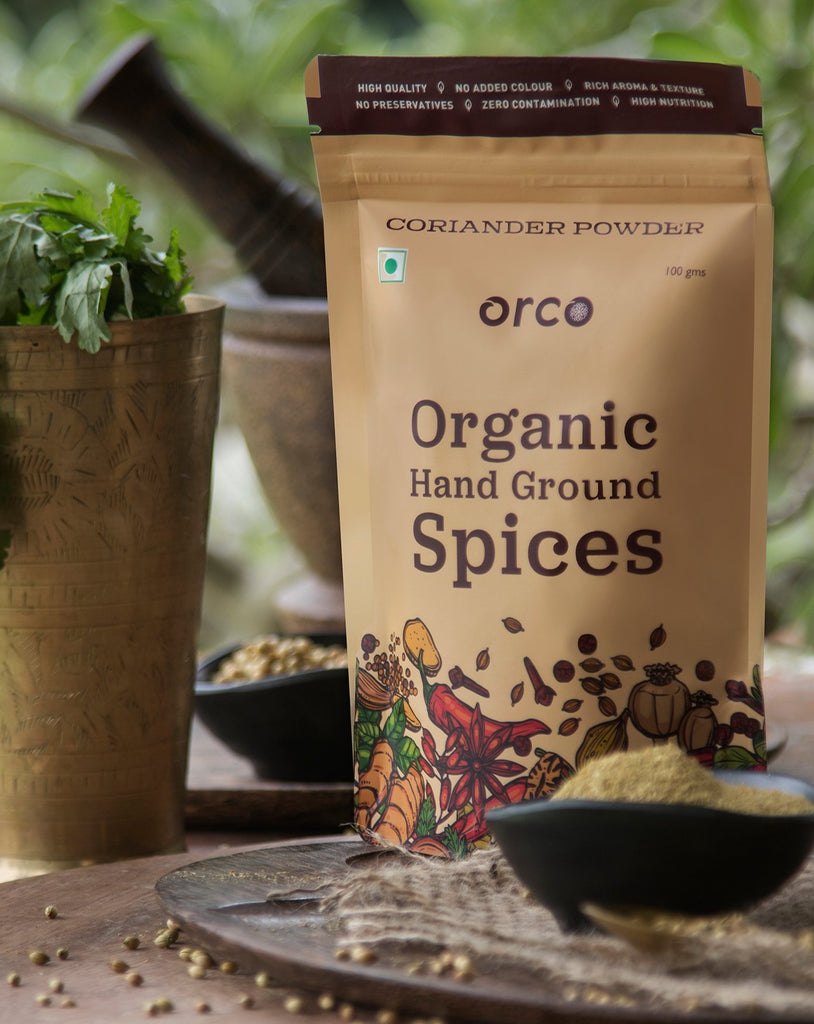 Organic Coriander Powder - orcospices