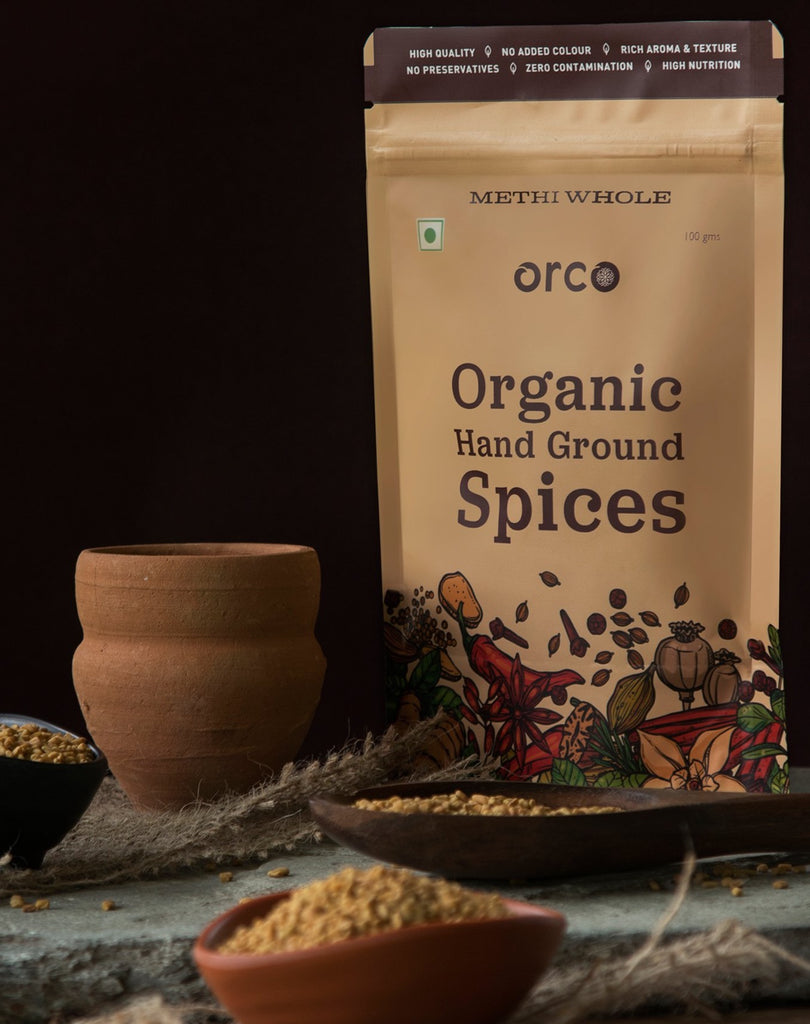 Organic Methi Seeds - orcospices