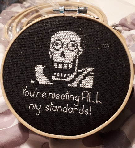 You're meeting all my standards! - Papyrus Undertale Cross Stitch Pattern
