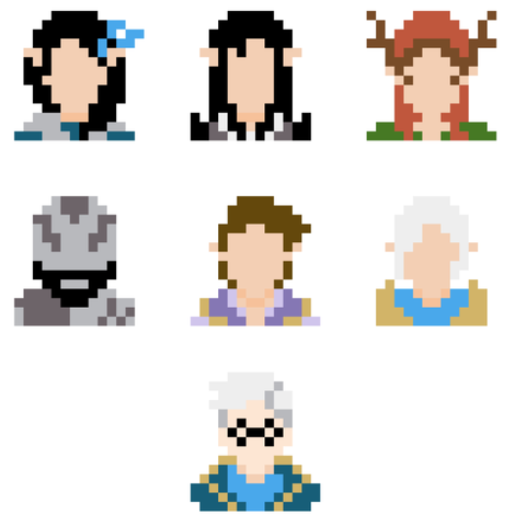 Vox Machina character mini stitches - Minimalist style