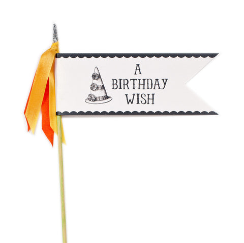 Deluxe Glitter Pennant Birthday Wish - TOPS Malibu