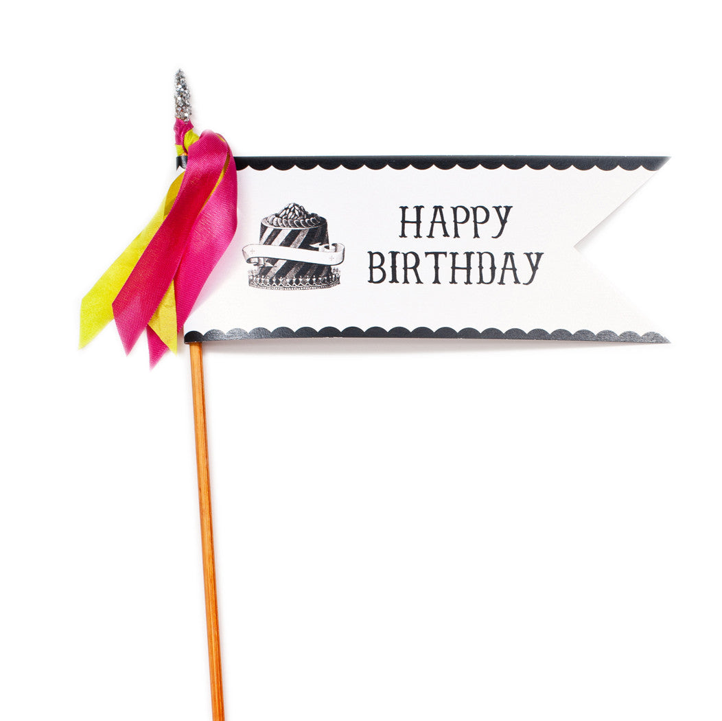 Deluxe Glitter Pennant Happy Birthday - TOPS Malibu