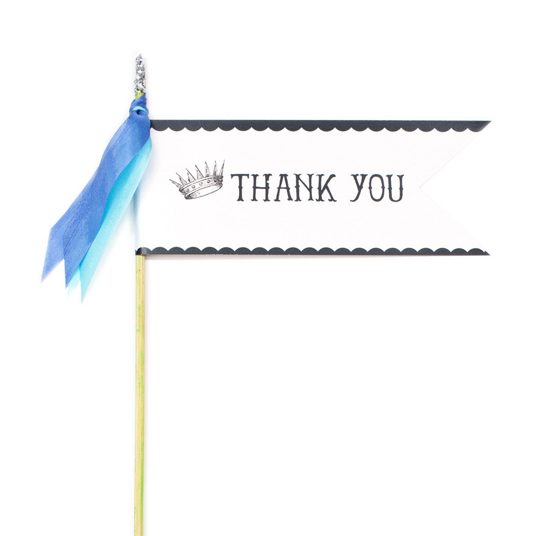 Deluxe Glitter Pennant Thank You - TOPS Malibu