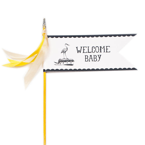 Deluxe Glitter Pennant Welcome Baby - TOPS Malibu