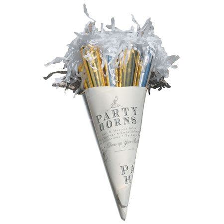 Party Horn Bouquet Gold/Silver 3 pack - TOPS Malibu