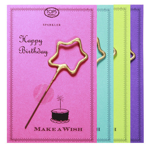 Sparkler Card Happy Birthday Asst Color