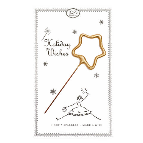 Sparkler Card Holiday Wishes - TOPS Malibu