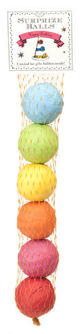 Mini Surprize Balls Birthday 6pc in net - TOPS Malibu