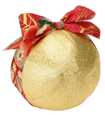 Deluxe Surprize Ball Metallic Gold w/Red Japanese Ribbon - TOPS Malibu