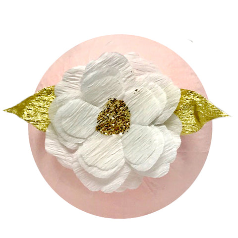 DELUXE SURPRIZE BALL FLOWER PINK & GOLD