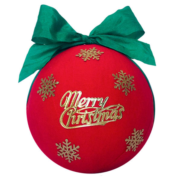 GIANT Surprize Ball Merry Christmas - 6""
