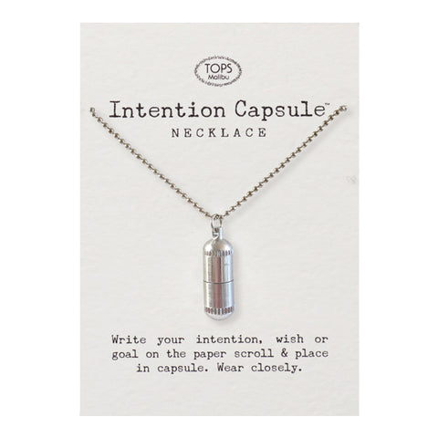 Intention Capsule Necklace with Chain