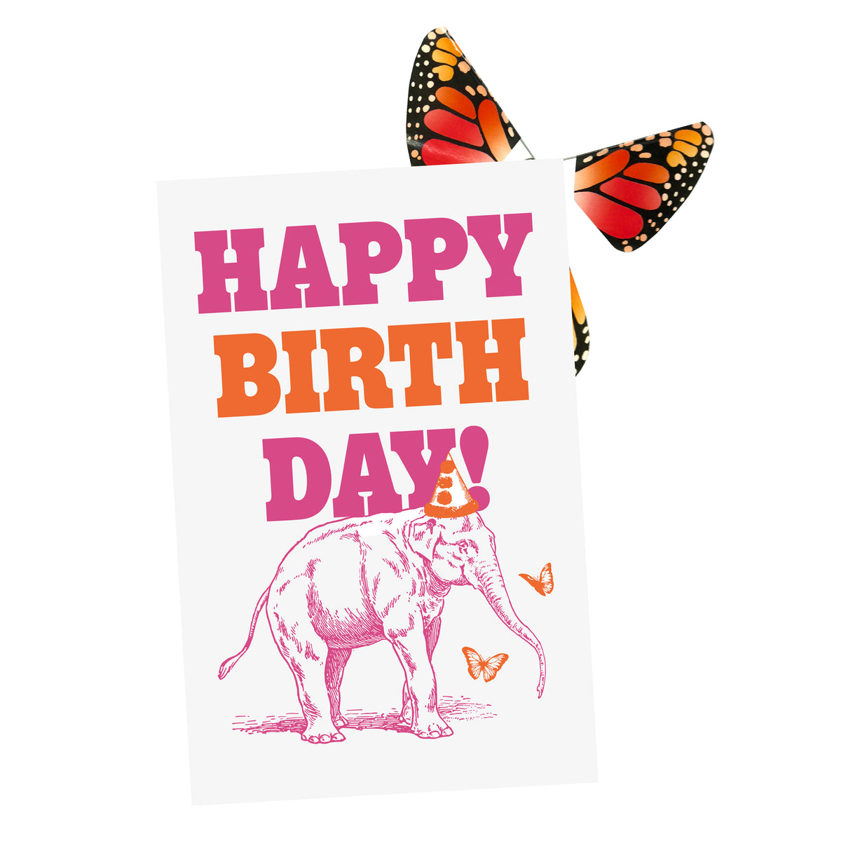 Big Birthday Card w/ Magic Butterfly®