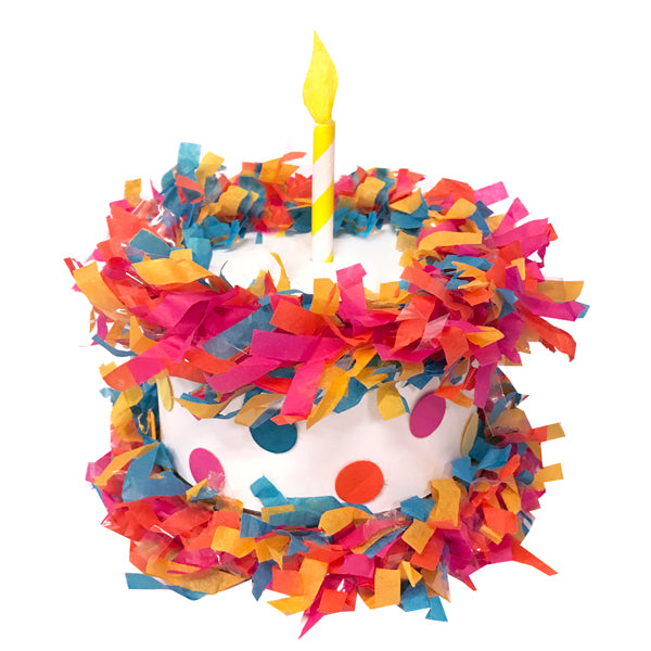 Birthday Cake Mini Tabletop Piñata