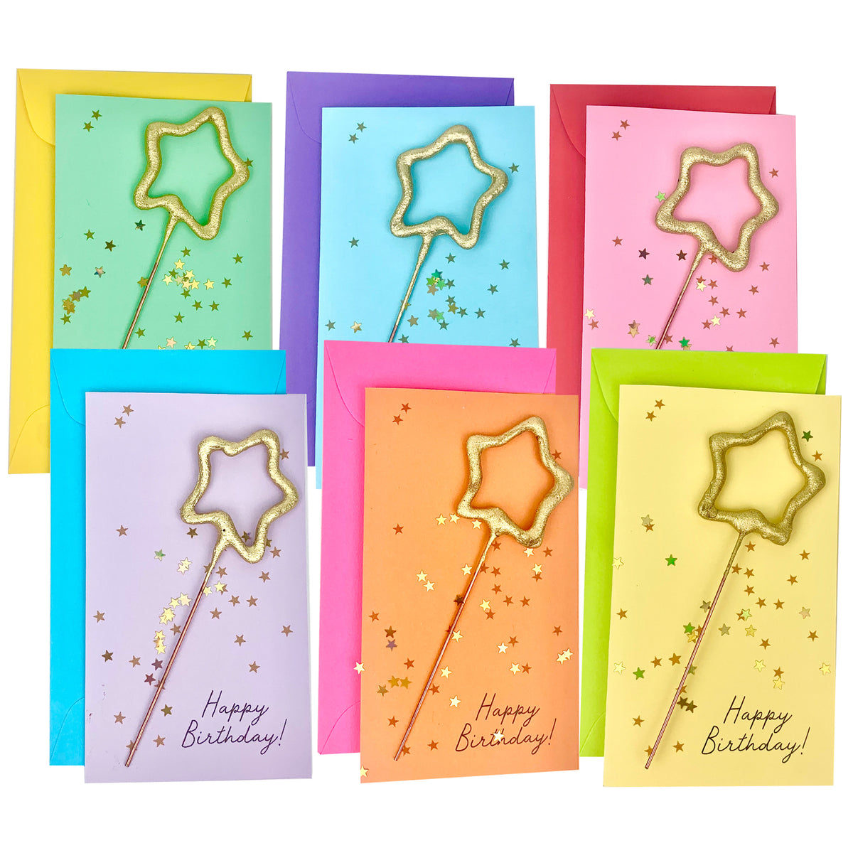 Confetti Sparkler Cards Happy Birthday!
