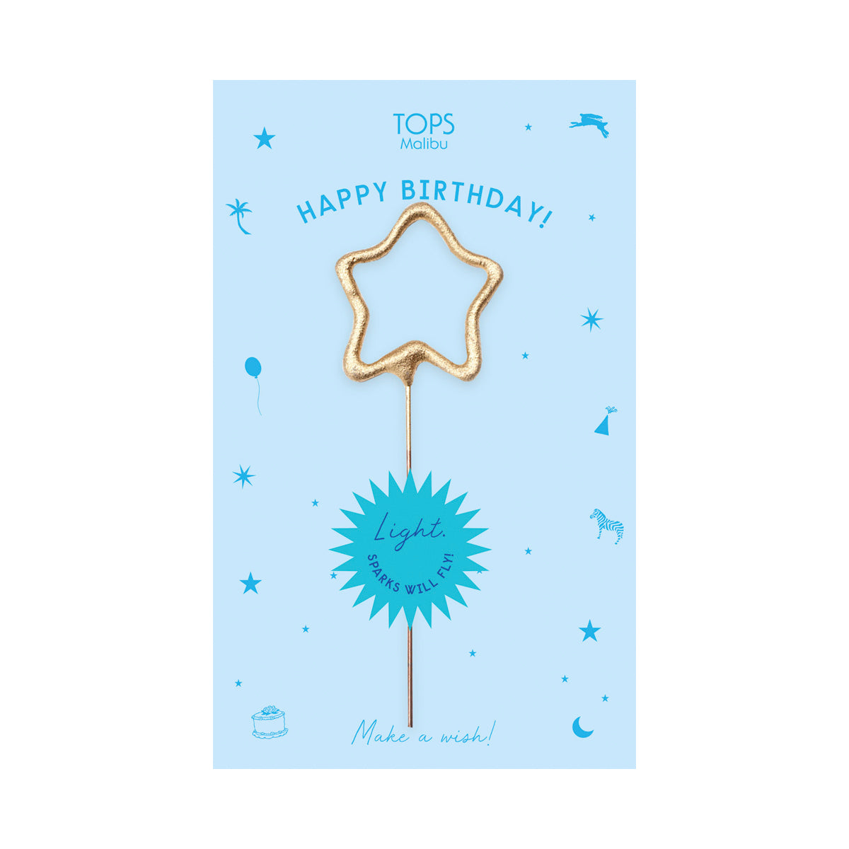 Sparkler Card Happy Birthday Asst. Color