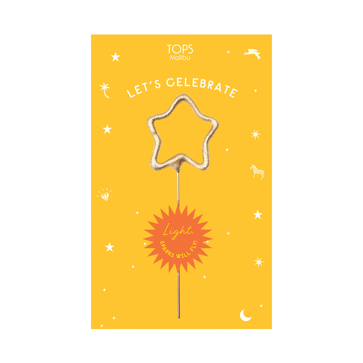 Sparkler Card Let's Celebrate