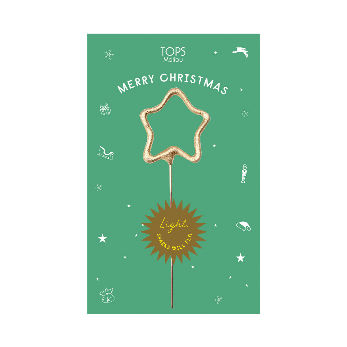 Sparkler Card Merry Christmas