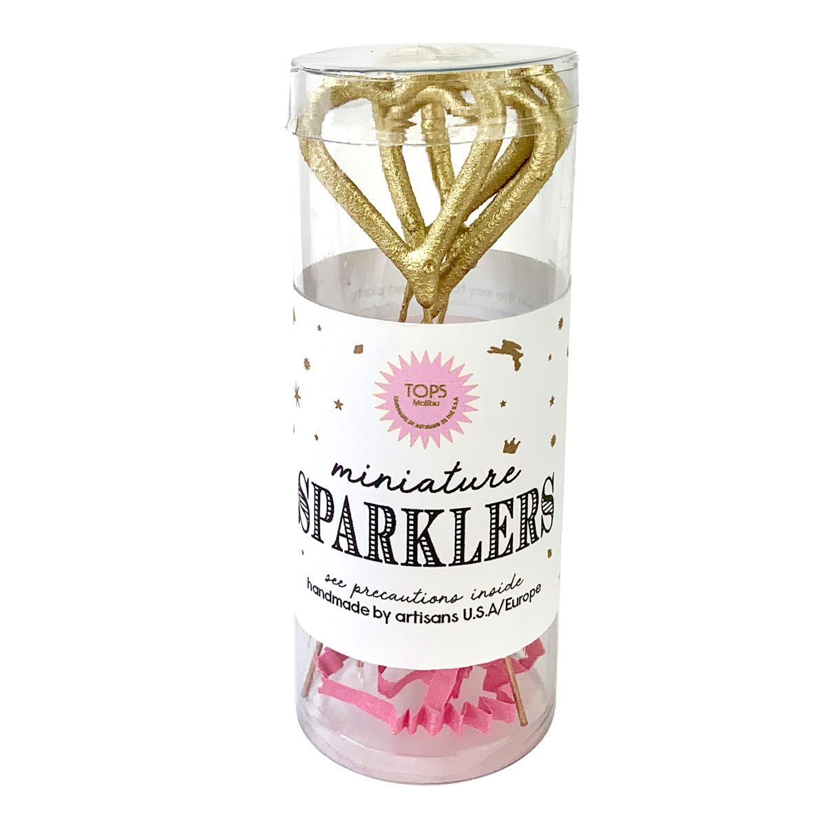 Mini Gold Sparklers Heart
