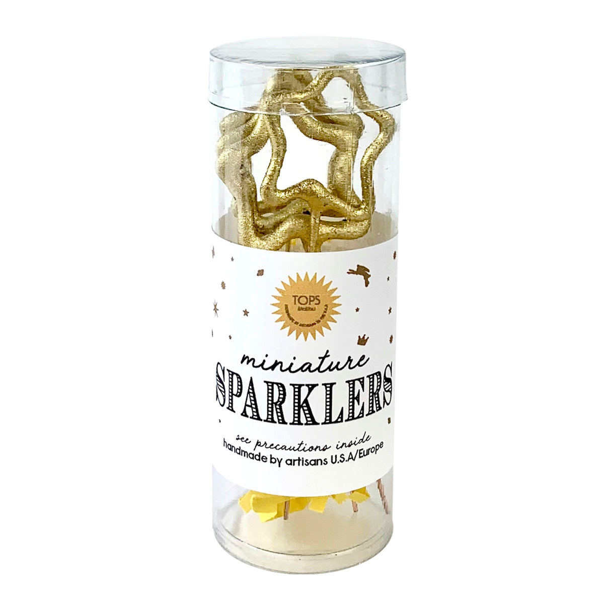 Mini Gold Sparklers Star