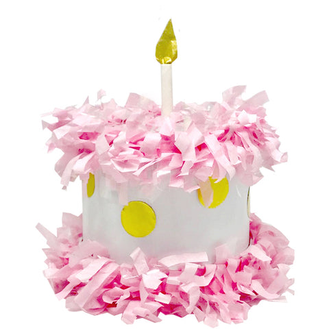 Pink / Gold CAKE MINI TABLETOP Piñata