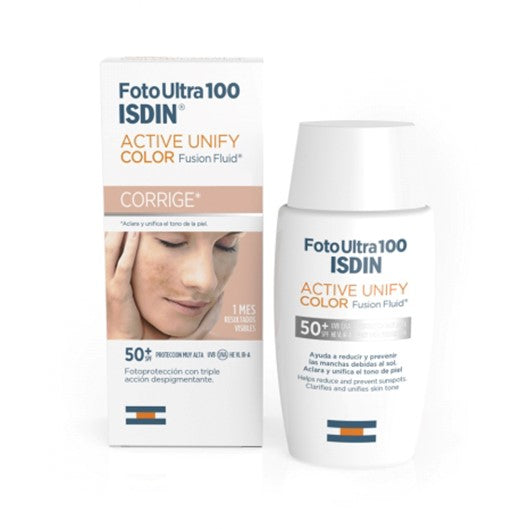 Isdin FotoUltra 100 Active Unify Color FPS 50 50 ml Pharmascalabis
