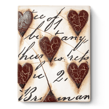"Load image into Gallery viewer, Sid Dickens Memory Block ""Red Heart with Script"""