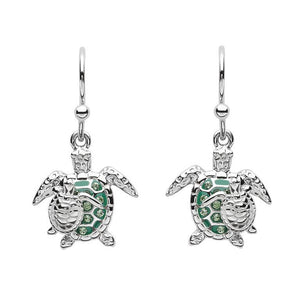 Ocean Mother And Baby Turtle Earrings with Swarovski® Crystals