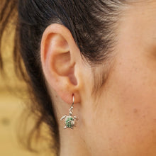Load image into Gallery viewer, Ocean Mother And Baby Turtle Earrings with Swarovski® Crystals