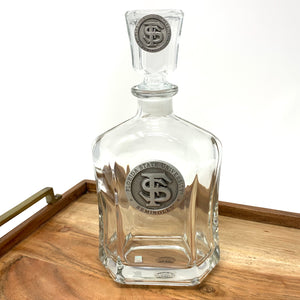 Heritage Pewter Florida State University 'FSU' Logo Capitol Decanter