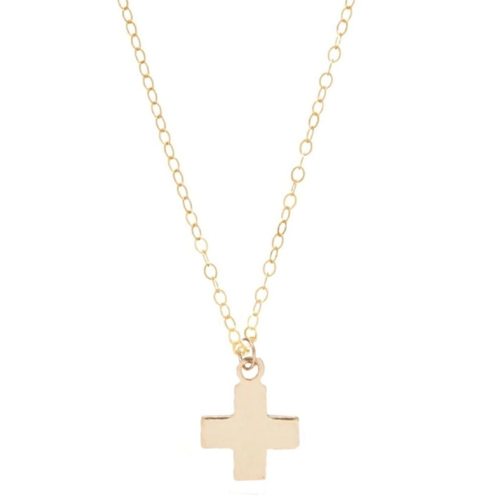 enewton Signature Cross Gold Charm