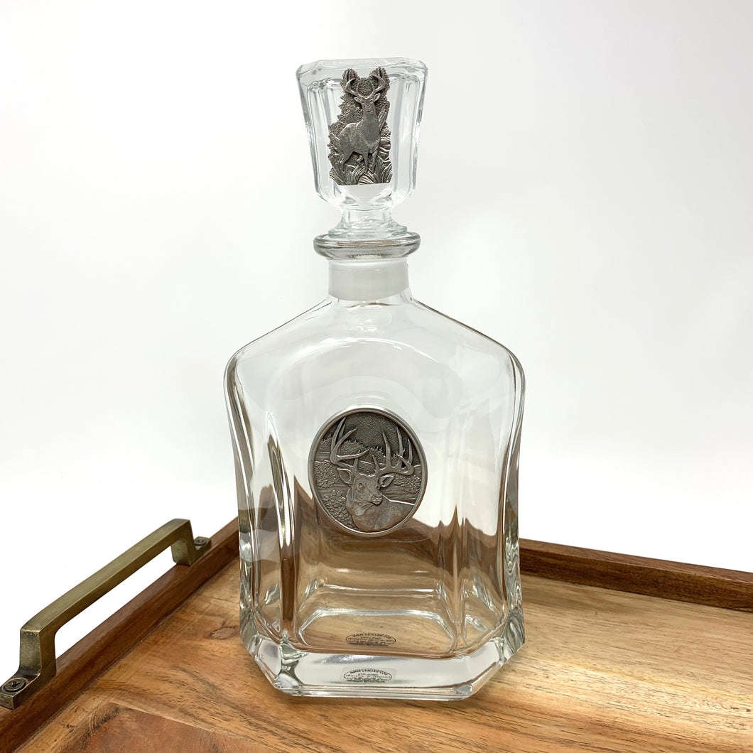 Heritage Pewter Deer Decanter