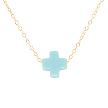 "Load image into Gallery viewer, enewton 16"" Necklace Gold - Signature Cross"