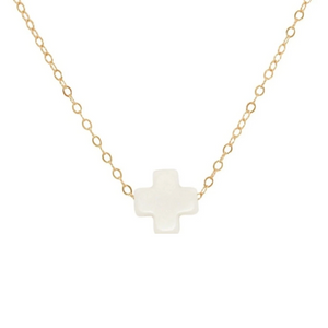 "enewton 16"" Necklace Gold - Signature Cross"