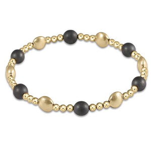 enewton Honesty Gold Sincerity Pattern 6mm Bead Bracelet