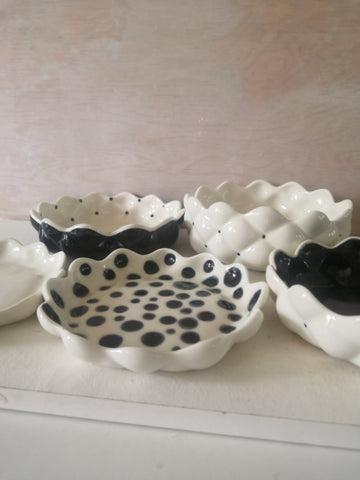 Hand-painted Raspberry bowls by Aga Robak