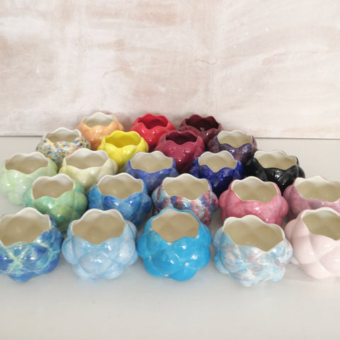 Hand Painted Raspberry Sugar bowls